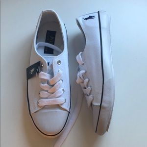 NWT POLO Ralph Lauren | White Canvas Sneakers